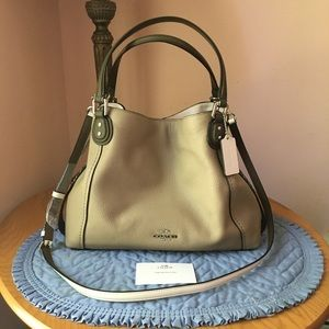 ❤️ Coach Colorblock Edie 28 with Snakeskin